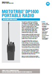 MOTOROLA DP1400 CATALOGO