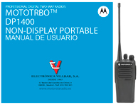 Manual MOTOROLA DP1400